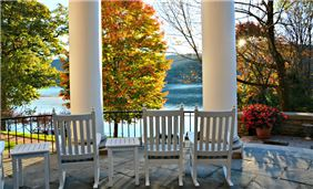 Hotel Cooperstown - Fall East Veranda