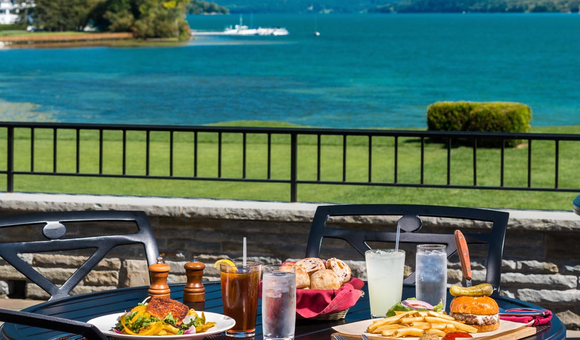 The Hawkeye Bar & Grill at The Otesaga Resort Hotel Cooperstown, New York
