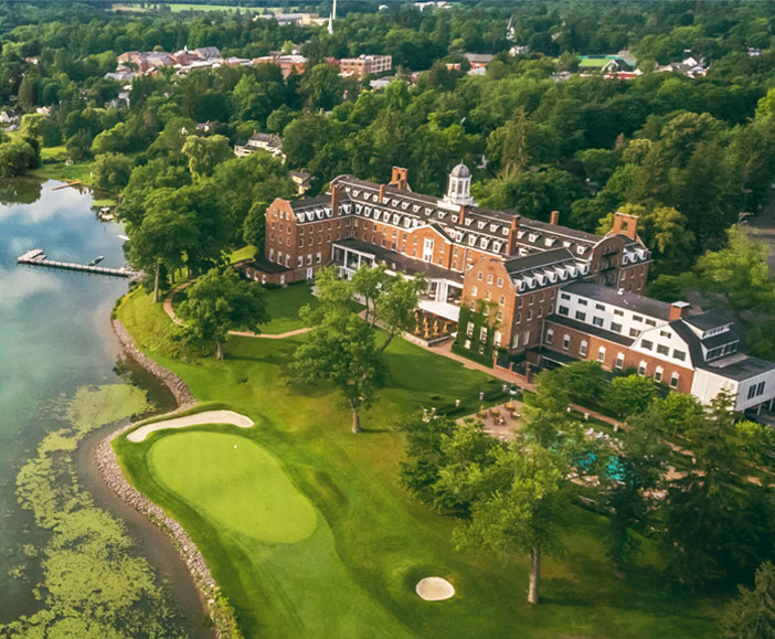 Historic Cooperstown NY Hotel On Lake Otsego View