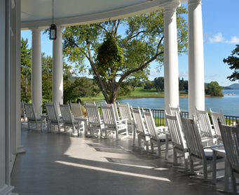 Veranda of The Otesaga Resort Hotel