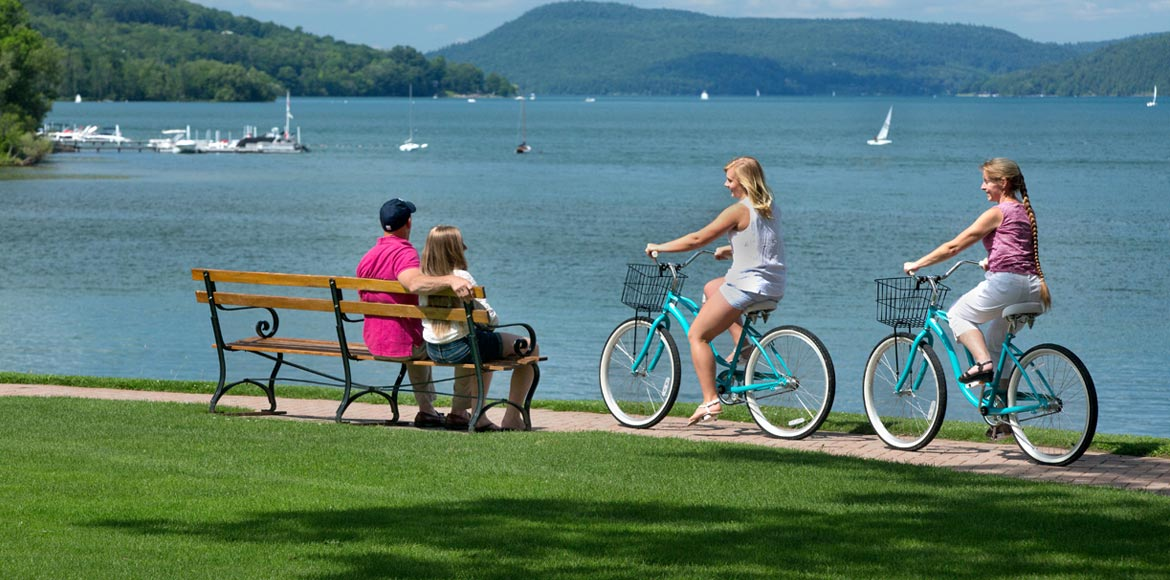 Lakeside & Village Biking at Cooperstown New York